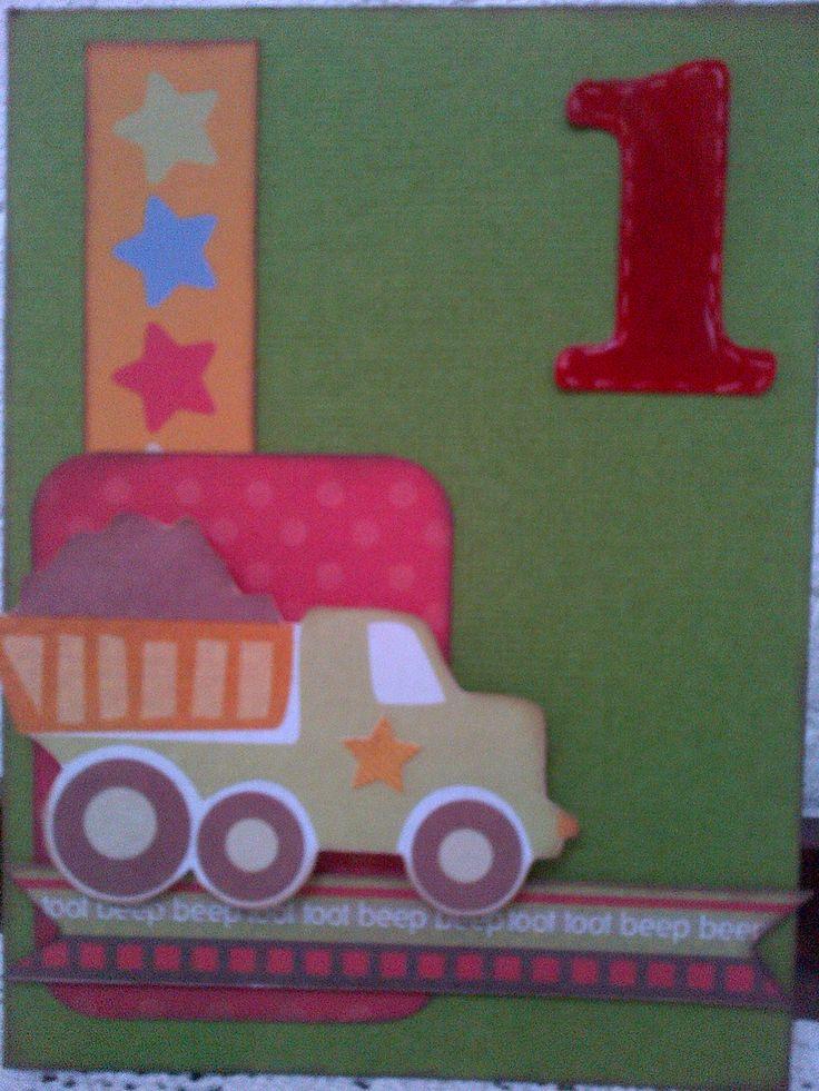 1st Birthday card for my nephew.
