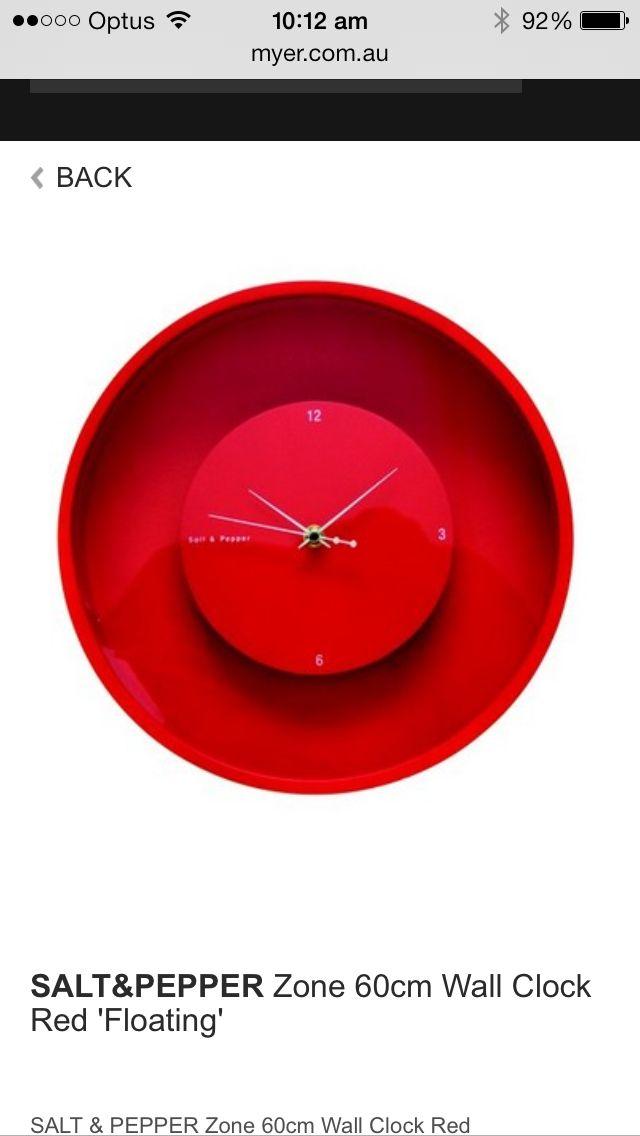 Salt and pepper clock 60cm