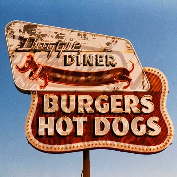 Doggie Diner San Francisco 1958 | Doggie Diner by Rick Lovelace | Missing my baby | Pinterest | Diners