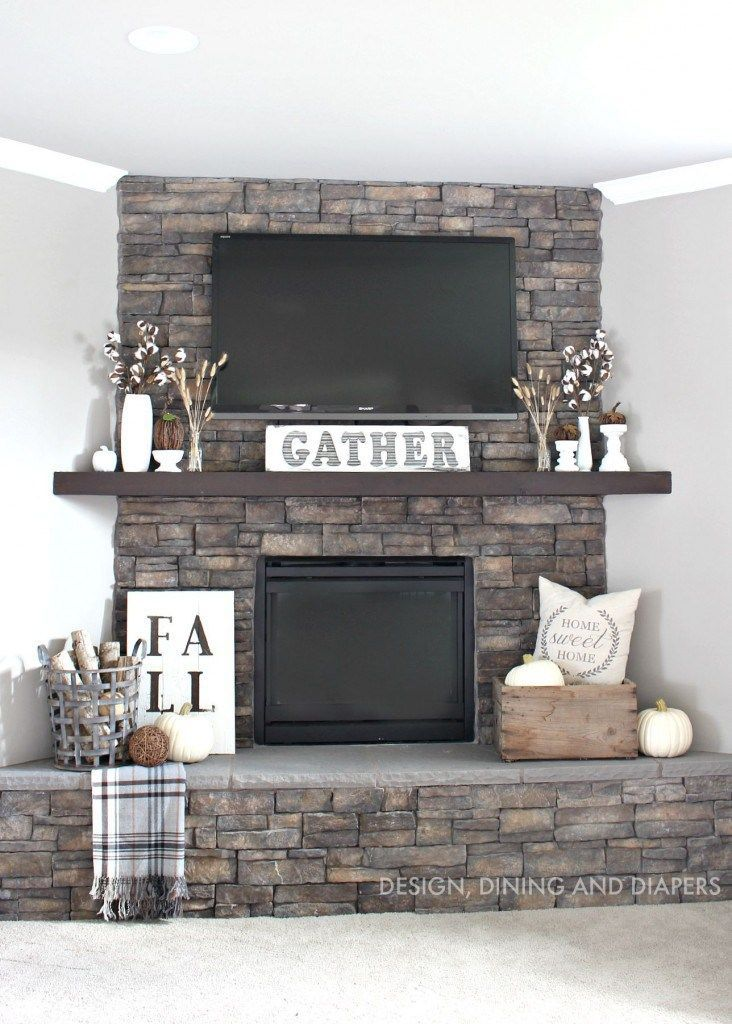 Photo courtesy of Designing, Dining + Diapers. Diy Corner Fireplace MantleCorner  Fireplace ...