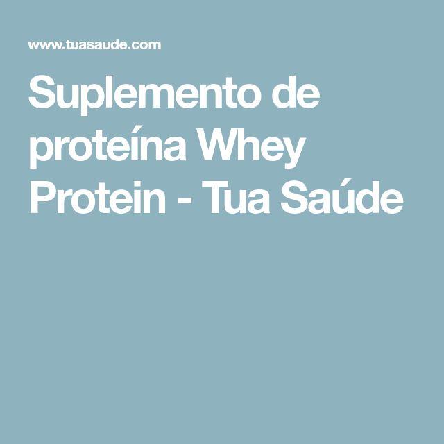 Suplemento de proteína Whey Protein - Tua Saúde