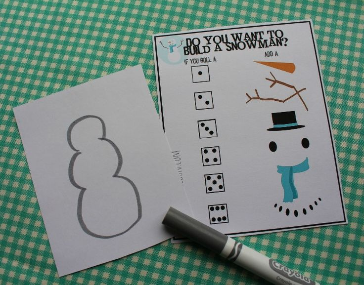 Do you want to build a snowman Frozen Olaf game and printable.