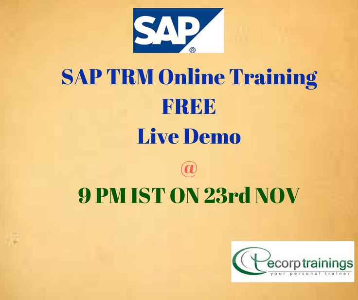 SAP Treasury and Risk Management Online Training in Hyderabad India.Ecorp trainings is the One of the best Online Training institute for SAP Treasury Management Training Course with real time scenarios training in USA,UK,Canada,Dubai,Australia.
