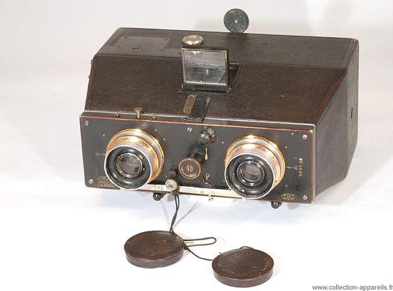 Bellieni Jumelle stéréoscopique Vintage cameras collection by Sylvain Halgand