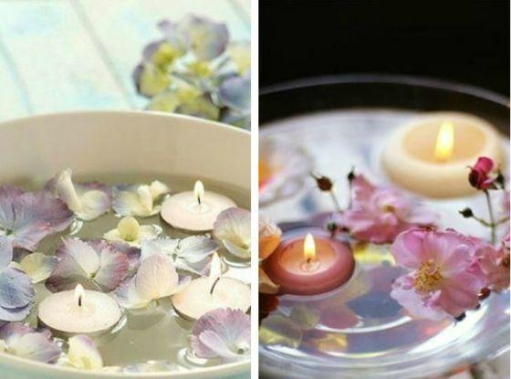 keramik und glasschale mit schwimmenden blumen - Gartenparty Gartenpartys Mal Ganz Anders Ideen
