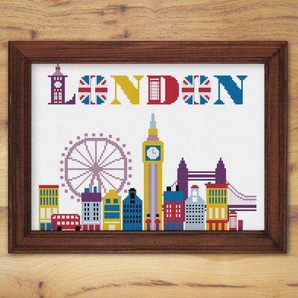 ThuHaDesign London cross stitch pattern