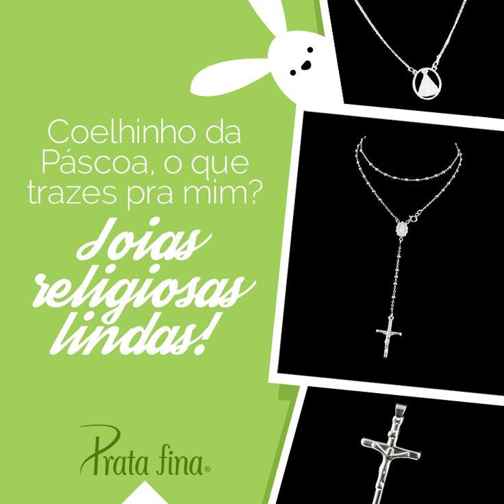 joias religiosas em prata para você ter uma #Páscoa brilhante e cheia de significado! Leia aqui: http://pol.vu/nh