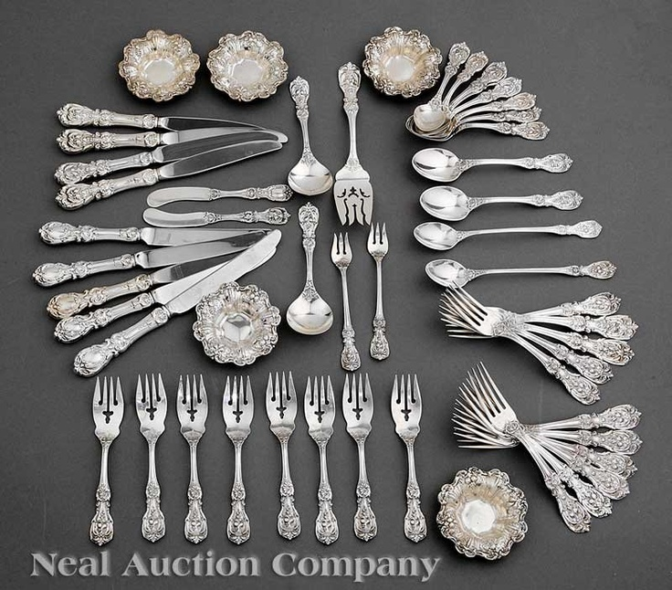 """My great aunt Margaret's silver--Reed and Barton """"Francis I,""""  designed in 1907 and still a classic."""