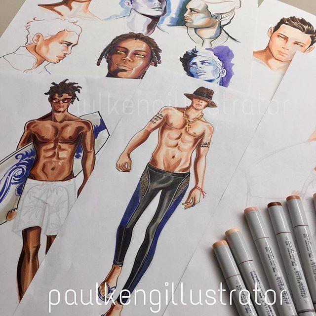 Drawing Male #swimwear #illustration #fashionillustration #fashiondesign #illustrator #paulkengillustrator #inspiration #fashionstudy #otisfashion