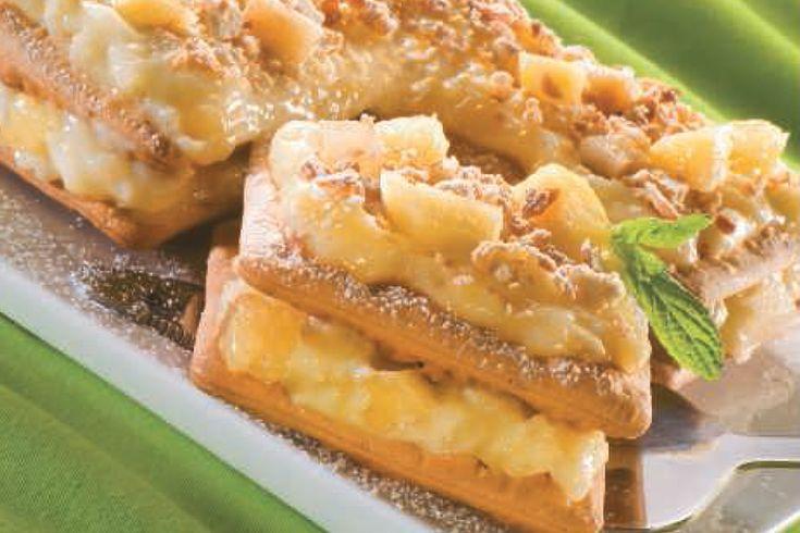 """Μιλφέιγ με """"Cream Crackers"""" ΠΑΠΑΔΟΠΟΥΛΟΥ και Κρέμα με Ανανά"""
