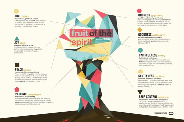 This infographic looks to the fruit of the Spirit in the Christian's life.