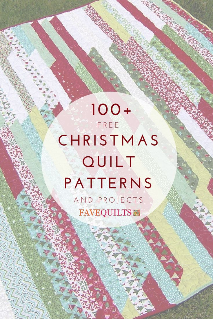 This list of Christmas quilts projects has everything you need for the season, including Christmas quilt stockings, tree skirts, table runners, ornaments, and more