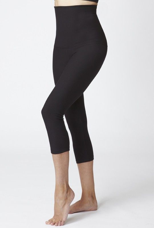 46bed72c6c2bf Tummy Control Cropped Leggings High Black | Yang Dipakai | Women's ...
