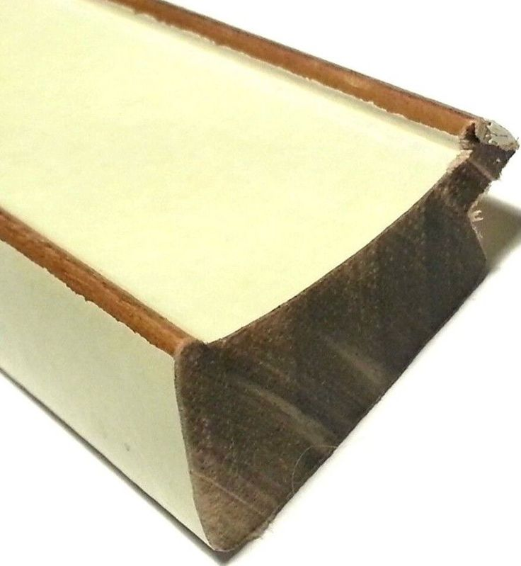 20 ft - White Cream Picture Frame Moulding, Gold Lines, Slant Profile, Hand Finished #Molgra
