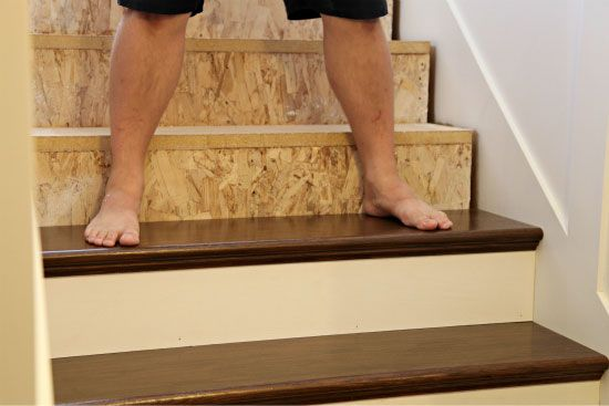 Installing new stair treads and risers