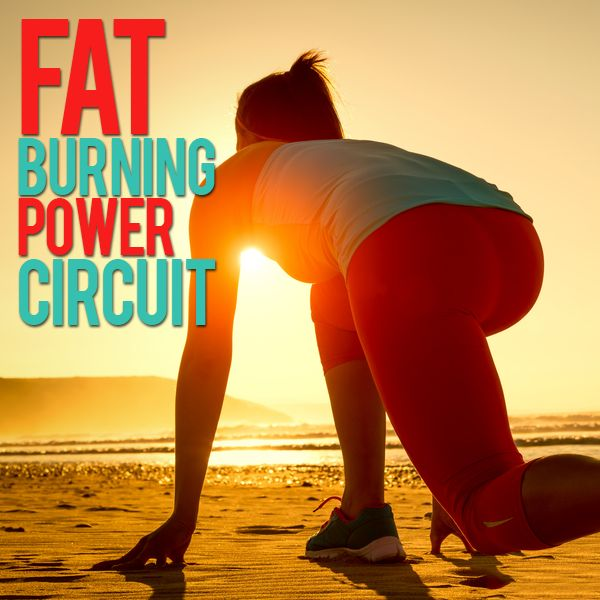 Are you ready for a total body challenge? This Fat Burning Power Circuit is a high intensity workout designed to speed up the metabolism and keep your body burning fat for up to 24 hours.  #FatBurning #PowerCircuit