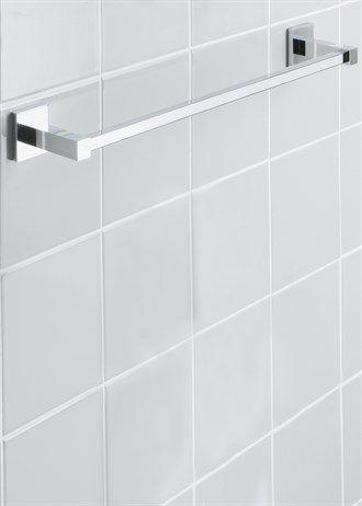 Chrome Wall Mountable Towel Rail (53cm x 8cm)