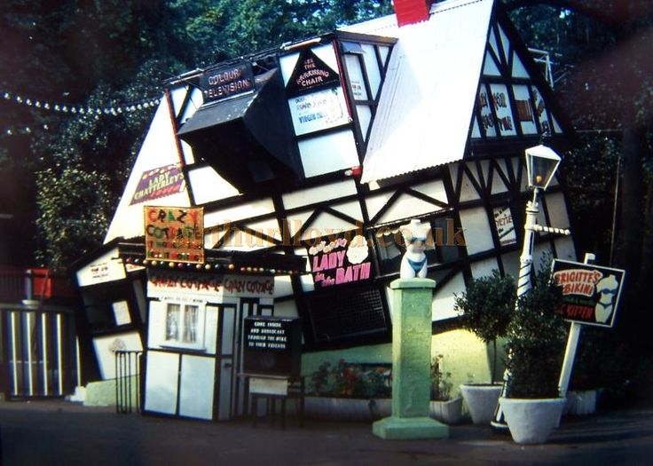 The Crazy Cottage at Battersea Park in the early 1960s