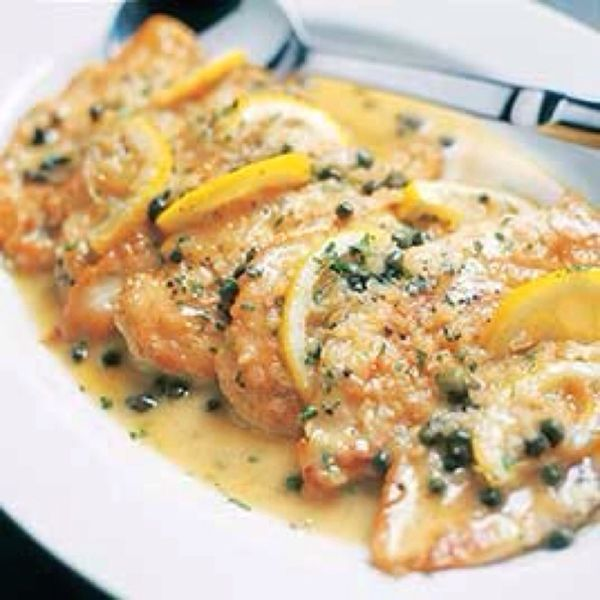 Chicken Piccata - easily the best recipe for this. The chicken stays juicy and crispy and the lemon really stands out!