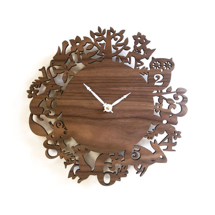 Woodland Walnut Wall Clock Part 98