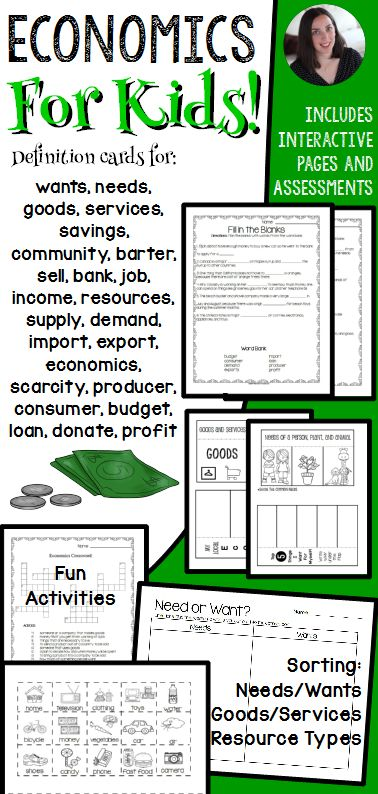 Economics for Kids! Explore basics of the economy through a variety of activities.