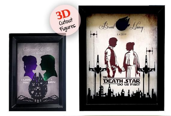 Star Wars Wedding Gift, Anniversary Gift, Personalized Wedding Gift For Couple, 1 Year Anniversary Gift For Boyfriend, Gift For Men