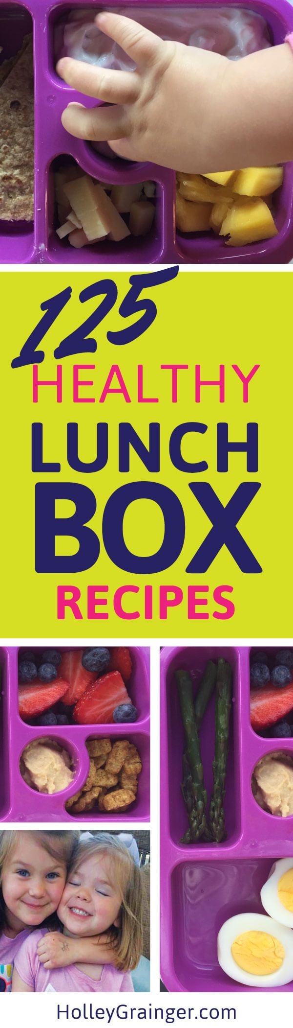 """Get the jump on the """"school lunch"""" routine with 125 FREE easy-to-pack lunchbox ideas.    via @holleygrainger"""