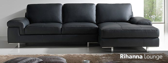 Black Leather couch Nick Scali Furniture Pinterest