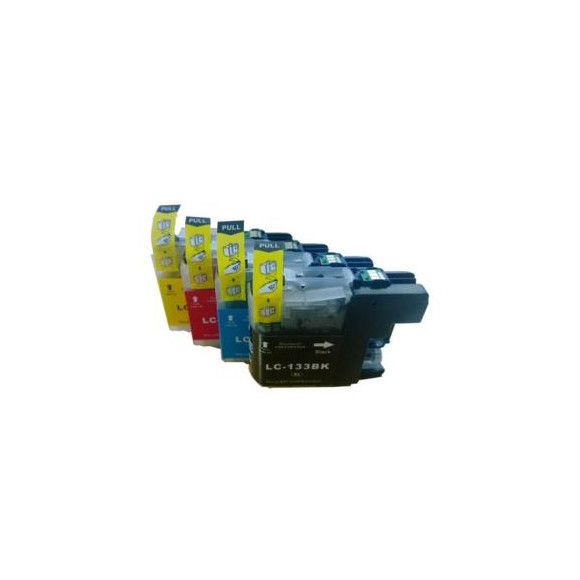 LC133 Compatible Inkjet Cartridge Set  4 Ink Cartridges For Brother Printers, currently AU$27.86 plus postage from DealsDirect.com.au #Brotherprinter #printerink #LC133 #LC131