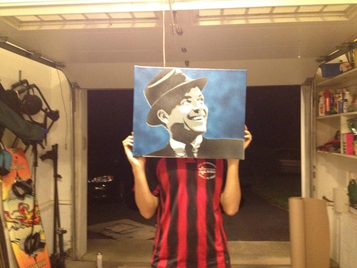 Frank Sinatra Stencil Art