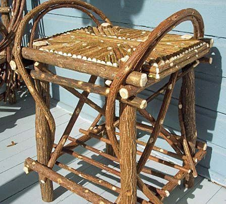 Hand Crafted Twig Willow Side Table Via Etsy