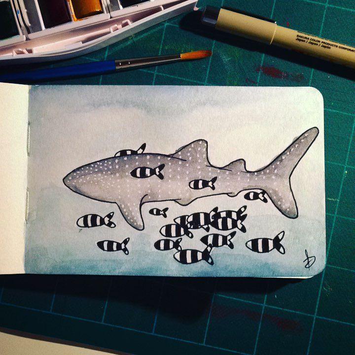 Inktober2017 - underwater