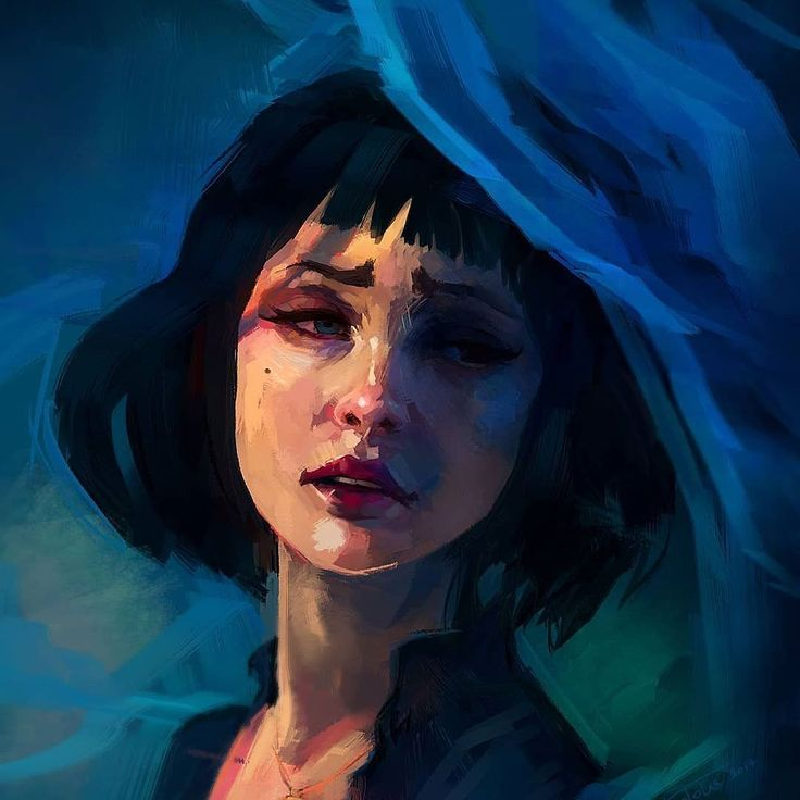 Repost for #featuremecyarine  Why so blue?... Check out the whole piece at my tumblr ! #portrait #digitalart
