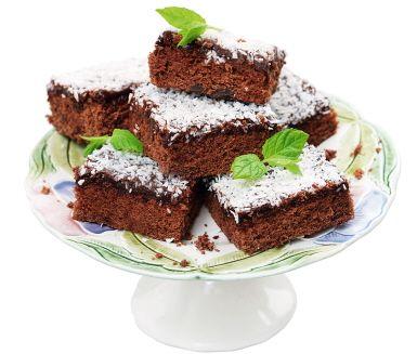 Klassisk kaka med rejält med glasyr för extra goda fikastunder. Smeten till kakan smaksätts med en hackad chokladkaka med mintsmak. Kombinationen av kaffesmak och mint är ljuvlig. Kakorna går fint att frysa.