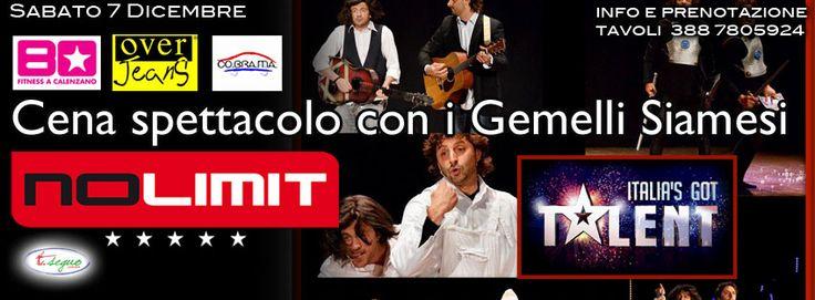 """7 Dicembre, Speciale Sabato da Grandi presenta: """"I GEMELLI SIAMESI"""" Live - http://www.versilianotte.it/event/7-dicembre-speciale-sabato-da-grandi-presenta-i-gemelli-siamesi-live/"""
