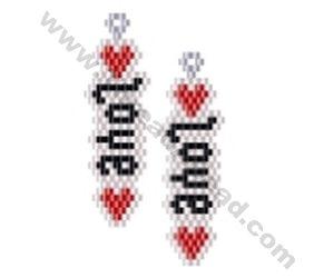 Love Earring Bead Pattern By ThreadABead
