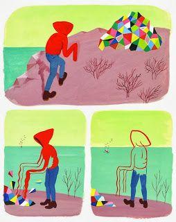 La Belle Illustration: Ludovic Debeurme, Exposition Trois fils, Galerie Martel, du 4 octobre au 30 novembre 2013