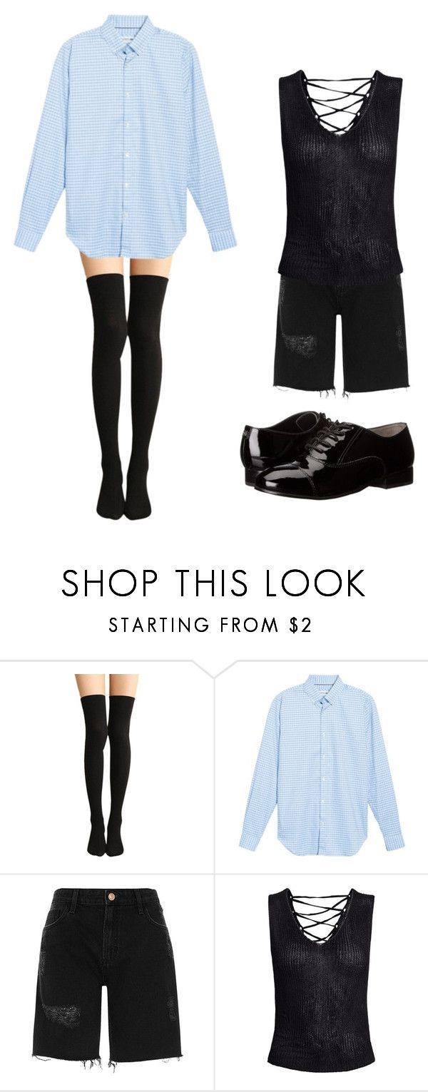 """Sky blue Lacoste & knee socks"" by nicholasisnothing ❤ liked on Polyvore featuring Lacoste, River Island, Sans Souci and Ivanka Trump"