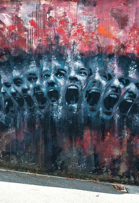 Les murs expriment nos émotions ! / Brest, France. / By Antoine Stevens.