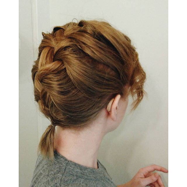french braid to show off hearing aids