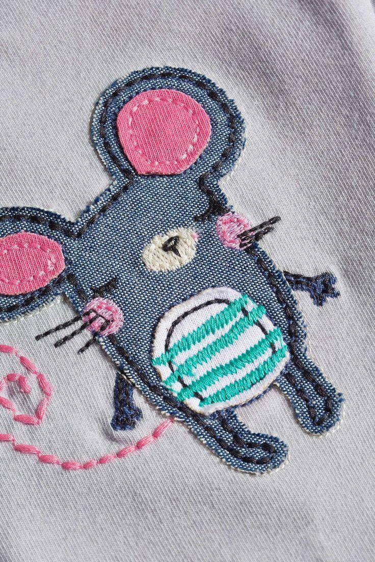 Купить Серые леггинсы с мышкой (3 мес.-6 лет) - Покупайте прямо сейчас на сайте Next: Россия