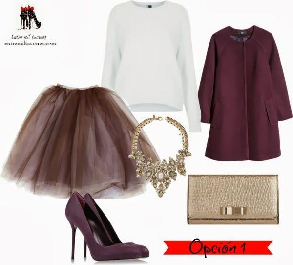 3 X 1 Looks Con Falda De Tul Para Las Fiestas Tendencias Pinterest Moda Purse And Fashion