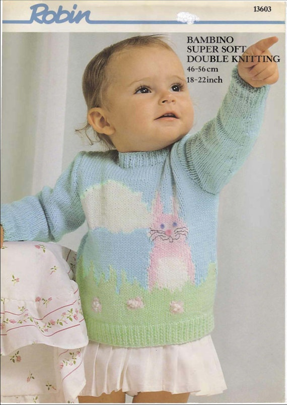 Vintage knitting pattern babies/childrens by craftypeople