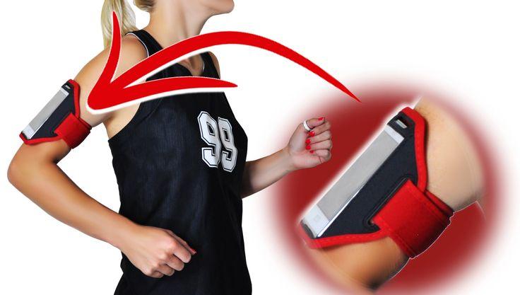 Opaska sportowa znakomicie sprawdza się na siłowni, podczas biegania - telefon zawsze jest pod ręką.