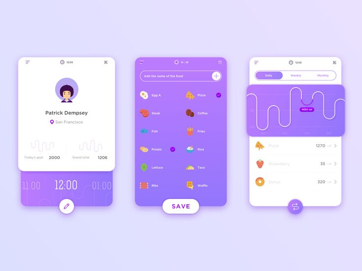 Calorie Record Interface