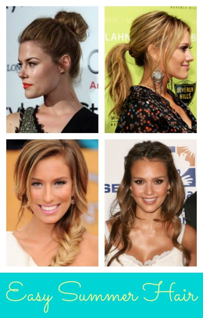 Four Easy Summer #Hair Styles