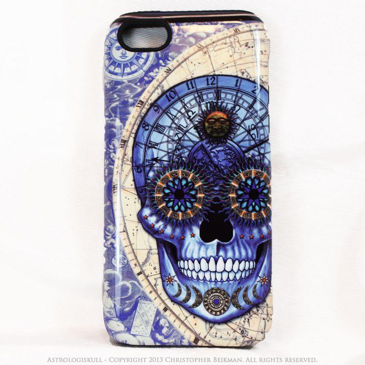 Blue Astrological Skull iPhone 5c TOUGH Case - Astrologiskull - Steampunk Skull iPhone case