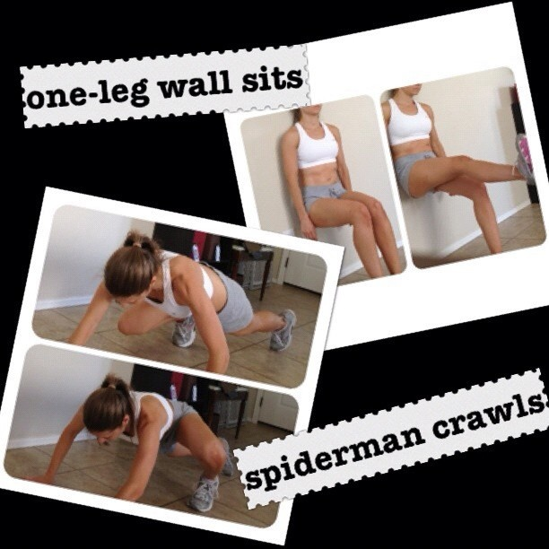#workout at #home -today I put my own workout together ... here are two #exercises you can do at home {I set a 20 minute timer and did 1. the #spiderman #crawl which works your #tummy /#abs and ties your #core together, (seen in #photo ), 2. I did 1 1/2 minute stair runs, 3. 30 second #tabattadips with both #legs then alternated one leg raised , 4. side-to-side #pushups on toes (12), 5. then the #wallsits alternating one leg then the other for a count of 20. } I sweat, I burned I got my…