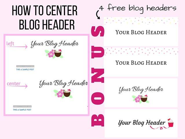 Τίτλος ιστολογίου στο κέντρο & Δωρεάν εικόνες τίτλου