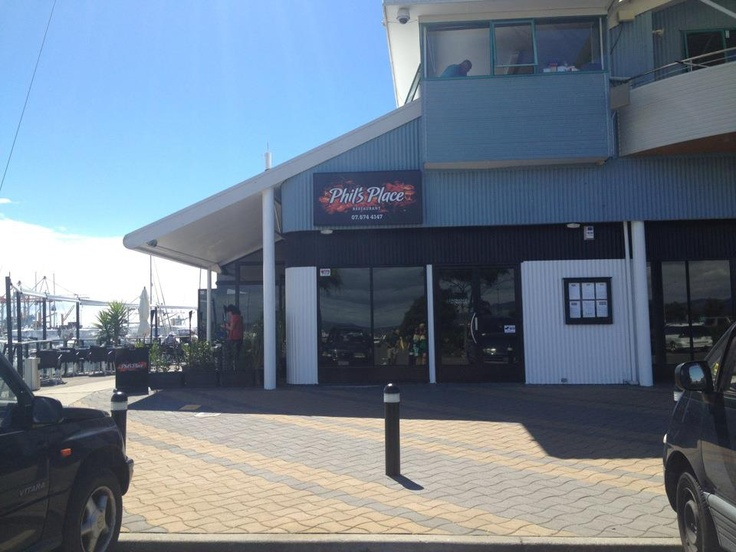 Phils Place! Phil Rudd, the drummer of AC/DC, has his own steakhouse on the marina in Tauranga!